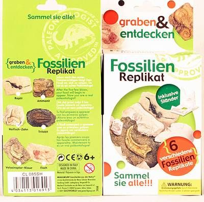 Fossilien Replikat Grabungs-Set Velociraptor-Klaue