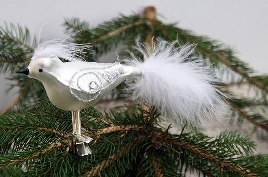 Christbaumschmuck Vogel Kopffeder Www Kleinedingeladen De
